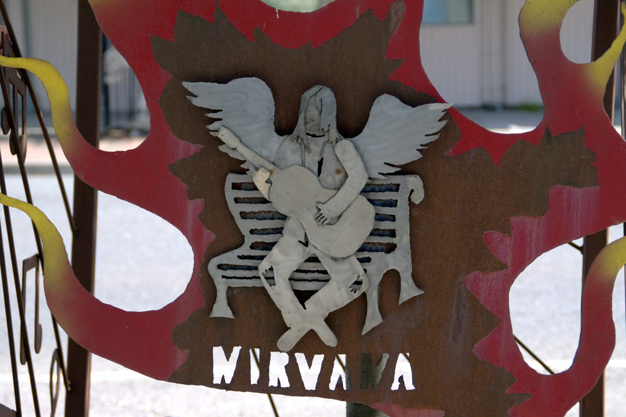 Nirvana Aberdeen Street Sign