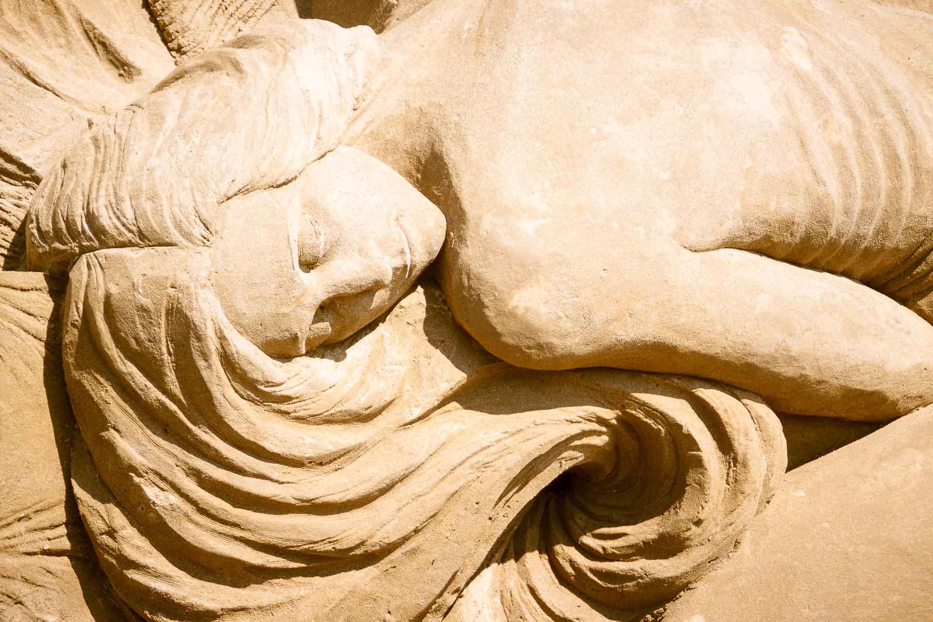 Sand sculpture of a Mermaid Rust Croft