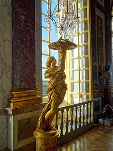 Gilded sculptured guéridons